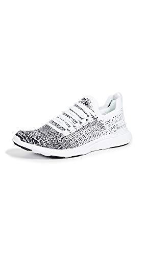 APL: Athletic Propulsion Labs Women's Techloom Breeze Sneakers, White/Black/Ombre, 5.5 Medium US