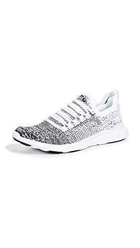 APL: Athletic Propulsion Labs Women's Techloom Breeze Sneakers, White/Black/Ombre, 10 Medium US
