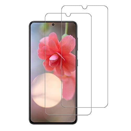 XSWO 2 Unidades Cristal Templado Compatible con Samsung Galaxy S21 (5G 6.2'), [Alta Sensibilidad] [Anti Arañazos] [Sin Burbujas] [Fácil Instalar] Vidrio Templado, Protector de Pantalla Galaxy S21