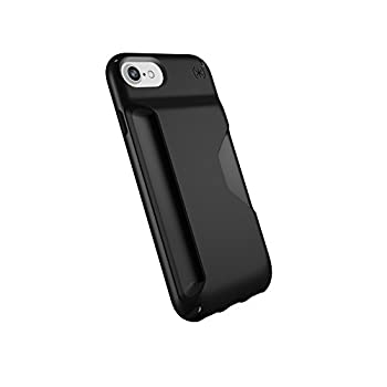 Speck Products Presidio Wallet iPhone SE 2020 Case/iPhone 8  Also Fits 7/6S/6  Black/Black