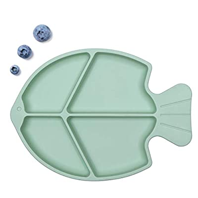 ROCCED Suction Plate for Babies, Silicone Divid...