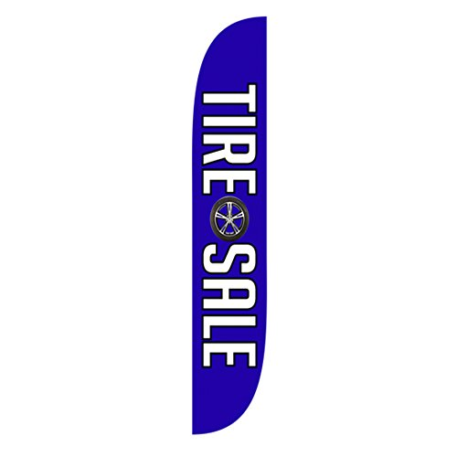 LookOurWay Tire Sale Blue Feather Flag, 12-Feet