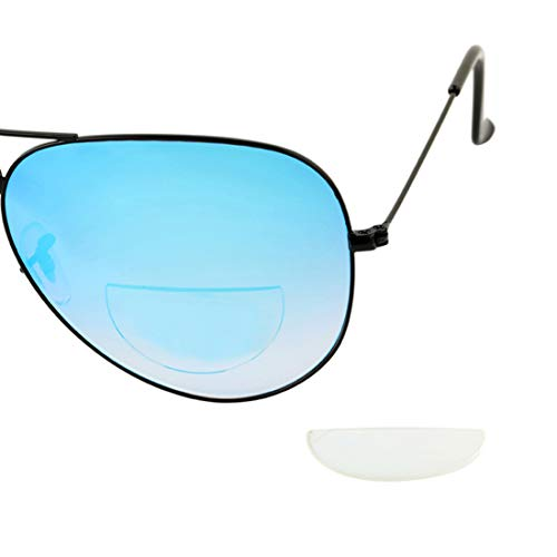 Hi Clear Stick On Bifocal Lenses Reader Magnifying Adhesive Reading Lens Sticker Sunglasses Safety Glasses Magnifier Add On (Clear, +1.25)
