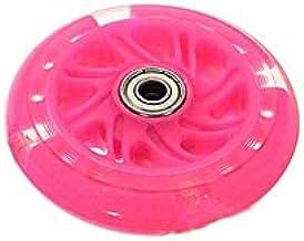 QiKun-Home 120 mm Led Flash Wheel Mini of Maxi duurzaam Scooter Knipperlichten Achter Achter Abec-7 Roze