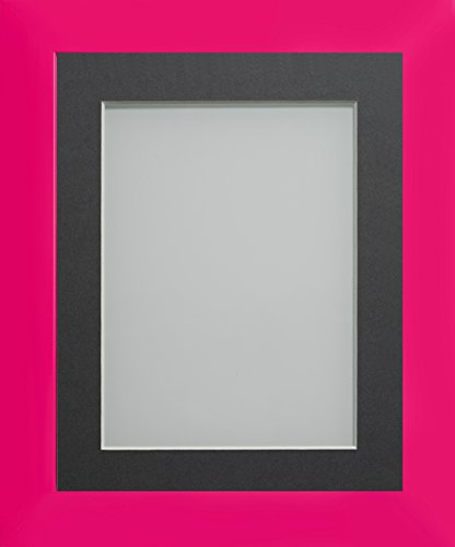 Frame Company Bilderrahmen, Candy-Kollektion, Plastik, hot pink, 10x8-inch Mounted for 6x4-inch Image