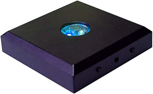 Kaltner Präsente LED Untersetzer Farbverlauf Farbwechsler Leuchtsockel mit Color-Stop Funktion für Stimmungslichter Schwarz (3 LEDs)
