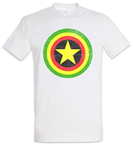 Urban Backwoods Captain Rasta Camiseta De Hombre T-Shirt Blanco Talla M