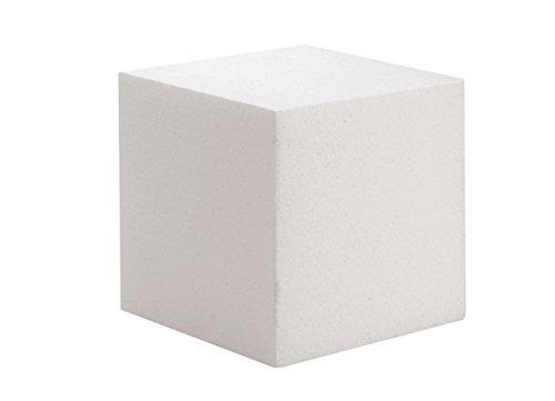 GLOREX 63803761poliestireno Cubo, Color Blanco, 15x 15x 3cm