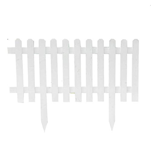 YVX Garden Fence Outdoor Plant Picket Fencing Wooden Plant Palisades Flower Bed Edge for Plants Climbing Growing,7 Size (Color : White, Size : 100x75cm)