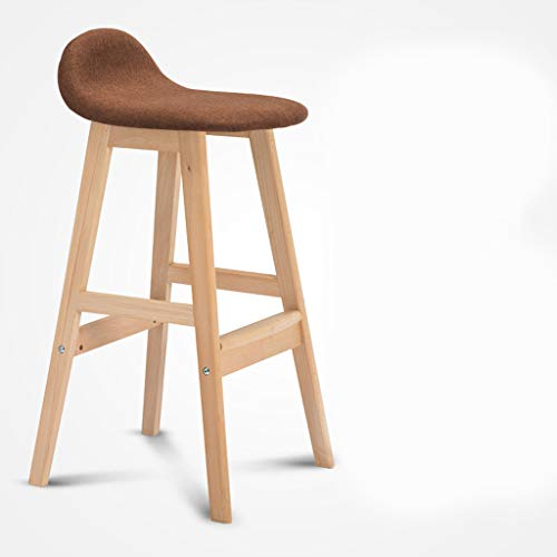 BLWX - Bar Stool Solid Wood High Stool Chair Bar Table And Chairs Front Desk Chair High Stool Bar Chair Lounge Chair Tabouret de bar (Couleur : F)