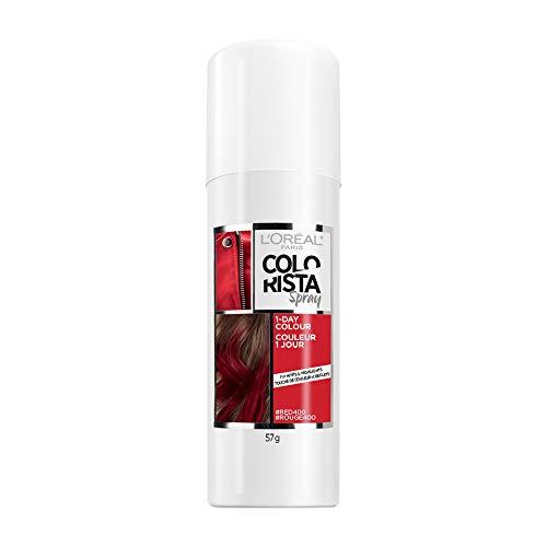 L'Oreal Paris Colorista 1-Day Temporary Hair Color Spray, Red, 2 Ounces