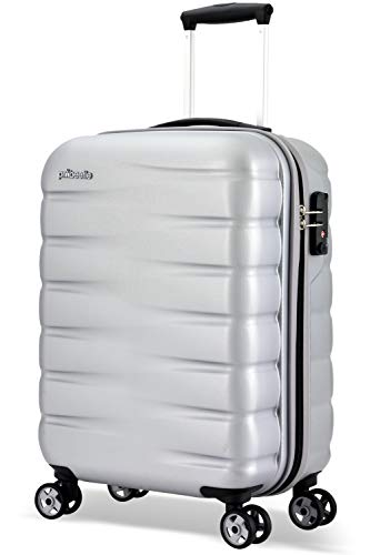 Probeetle by Eminent Hand Luggage Voyager VII 2.0 S 55cm 40L Carry-on Travel Suitcase Lightweight Hard Shell Holdall Cabin Silver