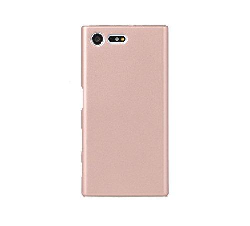 ARTILVST Sony Xperia X Compact Funda,Ultra Fino Medio rodeó la Estructura de Superficie Mate Durable PC Protector teléfono Funda para Sony Xperia X Compact Smartphone [Oro Rosa]