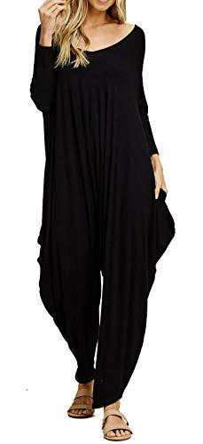Jumpsuit voor dames - romper/speelpakje - baggy-/haremstijl - eendelig/mouwloos/V-hals/spaghettibandjes