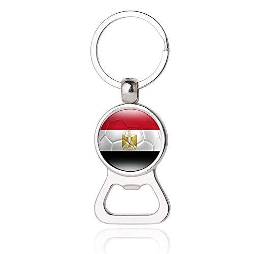 Ägypten Flagge Bier Flaschenöffner Metall Glas Kristall Schlüsselbund Reise Souvenir Geschenk Schlüsselanhänger Zubehör