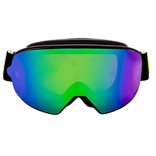 Broken Head Made2Rebel MX Goggle Schwarz - Motorrad-Brille Für Motocross, Enduro - UV-Schutz & Grünes Wechsel-Glas