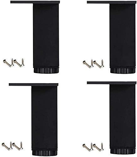 GFF Furniture Legs Furniture Feet ×4, Zinc Alloy, Adjustable Coffee Table Legs Replacement Legs/Sofa Legs/Load Bearing 400kg