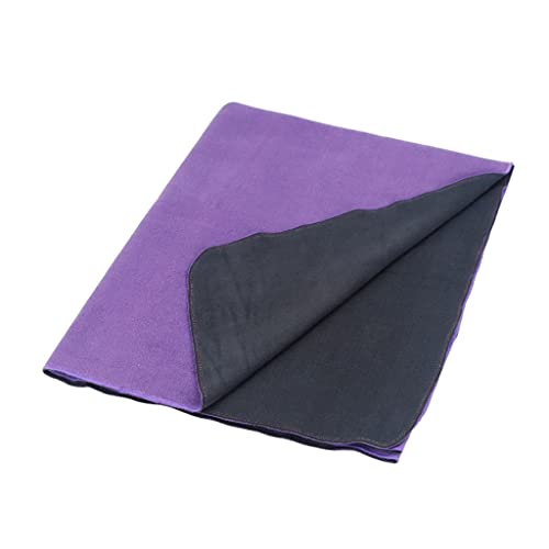 Hzjjc Toalla Mat Yoga Antideslizante, Manta Yoga Esterilla Deporte Secado Rápido Microfibra Absorbente Extra Larga para Hot Yoga, Fitness, Playa, Gimnasio, Pilates, 90x180cm (Color : Black)