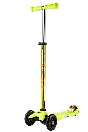 Micro -Mobility Maxi Micro Deluxe -Trottinette Enfant - De 5 à 12 ans - jaune