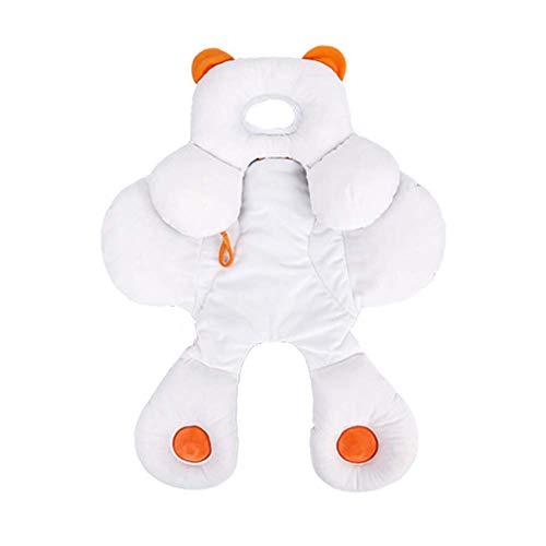 Inchant Cojín de apoyo para la cabeza del bebé con algodón orgánico extra suave 2 en 1 para asiento de coche para bebé con inserto de género Nautral regalo recién nacido