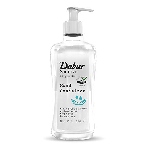 Dabur Sanitize Hand Sanitizer | Alcohol Based Sanitizer (Regular) - 500 ml