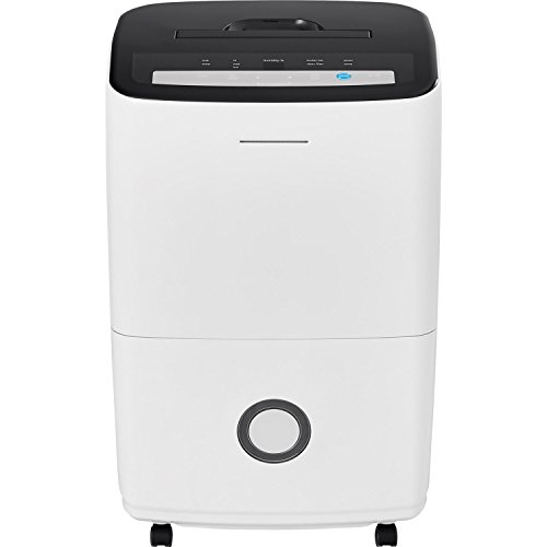 Frigidaire 70-Pint Dehumidifier with Built-in Pump, Black & White