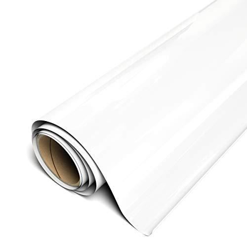 """Siser EasyWeed HTV 11.8"""" x 5ft Roll - Iron On Heat Transfer Vinyl (White)"""