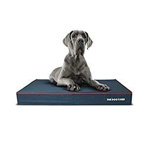 """Replacement Outer Cover ONLY (Outer Cover ONLY – NO Bed, NO Waterproof Inner) for The Dog's Bed, Washable Quality Oxford Fabric, XXL 54"""" x 36"""" x 6"""" (Blue with Red Piping)"""