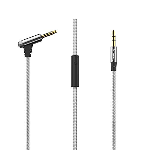 Aux Cable, Tsumbay Audio Cable with Microphone and in-line Control, 3.5mm Male to Male Cable Headphone Cable Premium Nylon Auxiliary Cord for Headphones, PS4, Home/Car Stereos (1m)