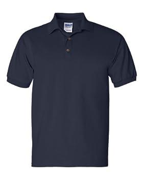 Gildan Mens 6.1 oz Ultra Cotton Jersey Polo G280 -NAVY XL
