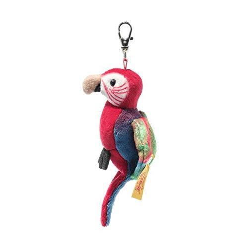 Steiff 024405 Anhänger Papagei Macaw National Geographic rot blau 9 cm Kuscheltier Plüschtier Stofftier Kinder Baby Schlüsselanhänger Spielzeug Plüsch