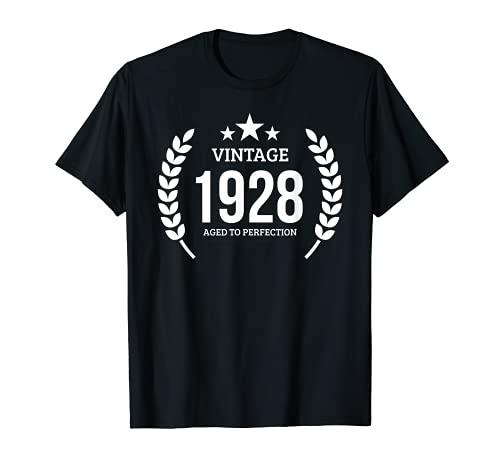 Annata 1928 Regalo di compleanno del 1928 93 anni Maglietta
