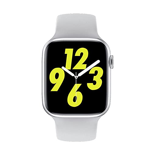 Reloj inteligente IWO W26 para hombre y mujer ECG Heart Rate/Blood Pressure Monitor Clock Bluetooth Call Smartwatch para Android IOS (blanco)