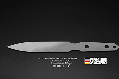 Rohling Messer Model 18 / 283mm Poliert Messerbau Messerstahl Messerklinge Klingenrohling Jagdmesser