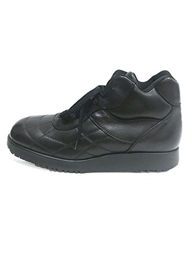 Marlboro Classics FUK2320 Leather/Textile mid Boots Goodyear Welted Sole Black EU44