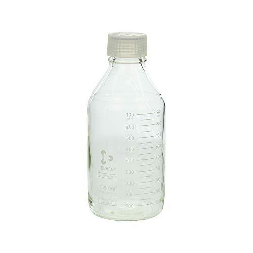 柴田科学 プレミアムボトル(メジュームびん) 白キャップ付 1L 017260-1000A