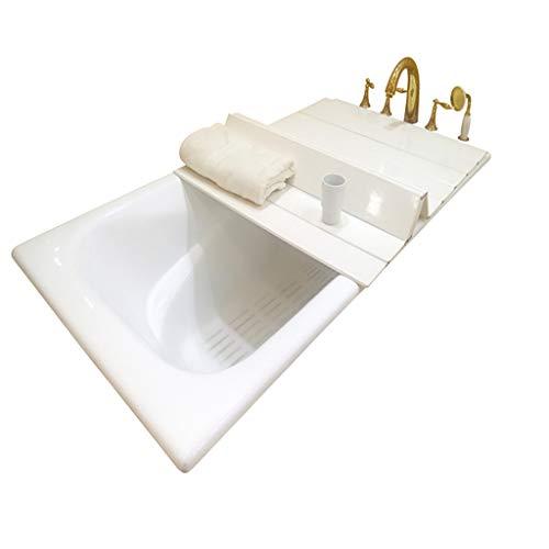 ZWJLIZI Badewannenbretter Badewannenabdeckung Badewannenablage Falten Isolierabdeckung Staubdichte Halterung Umweltschutz PVC weiß Multi-Size-Auswahl (größe : 180 * 80 * 0.6CM)