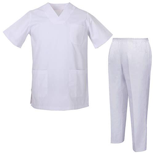 MISEMIYA - Pijams Sanitarios Unisex Uniformes Sanitarios Uniformes Médicos 817-8312 - L, Casaca Sanitarios 817-2 Blanco