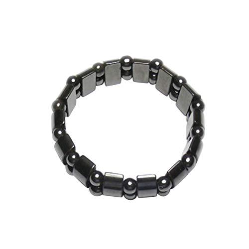 LIXBD Pulsera magnética pulsera magnética saludable tobillera joyería para hombres mujeres Artritis túnel carpiano (negro)