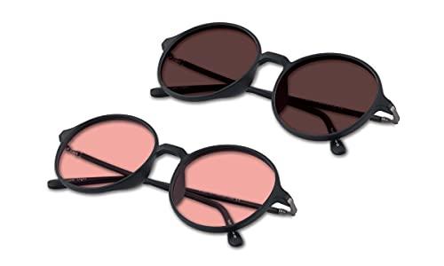 (Bundle) TheraSpecs Pembrook Blue Light Glasses for Migraine, Light Sensitivity