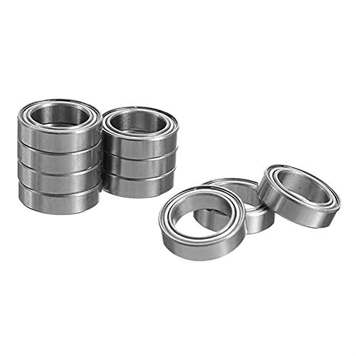 DHJZSL 10 pz/Lotti di Miniatura 6700ugs Cuscinetti in Acciaio Metallici Metallici Cuscinetto a Sfere schermato a Parete Sottile 1 0X15X4. Mm