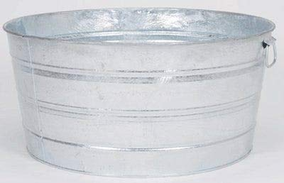 All States Ag Parts Parts A.S.A.P. Round Wash Tub - Galvanized 17 Gallon
