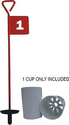 PuttingGreen-Fahne inkl. Locheinsatz Rot