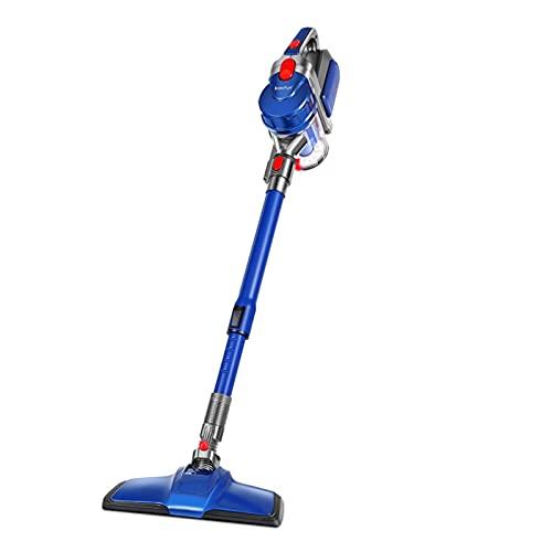 Aspiradora Escoba Sin Cable, 9000PA Stick Vacuum 150W Strong Suction, 40 Minutos De Tiempo De Ejecución Y Motor Sin Escobillas, para El Pelo De La Mascota del Piso De Alfombras (Color : Blue)