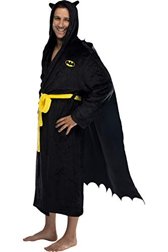 DC Comics Adult Batman Plush Fleece Hooded Costume Robe One Size