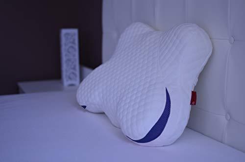 Soft & Comfort Orthopädisches Kissen | Seitenschläferkissen | Nackenkissen | HWS Schlafkissen | Pillow | Memory-Schaum Nackenstützkissen | Kopfkissen 40 x 60 (Blau)