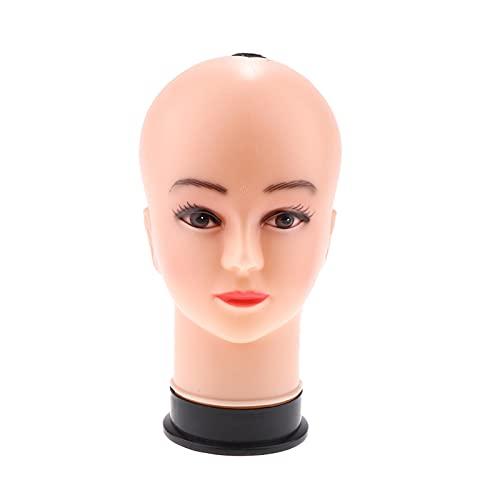 ZSR-haohai 21'Female Wig Head Mannequins Maniquí, Estilo, Modelo y exhibe Pelucas para Mujer, Piudazadas, Soporte de Sombreros