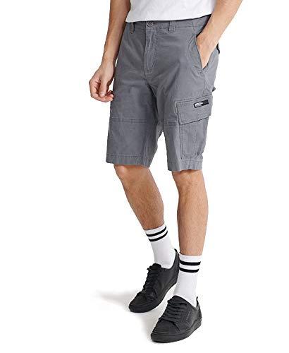Superdry Core Cargo Shorts Pantalones Cortos, Gris (Naval Grey Hdp), 32W para Hombre