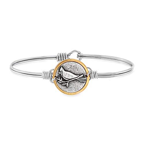 Luca + Danni | Cardinal Bangle Bracelet for Women - Silver Tone Regular Size Made in USA