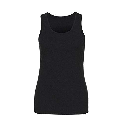 Bibokoke - Camiseta de tirantes para mujer de verano, manga corta, sin mangas, cuello redondo, chaleco deportivo, para fitness, informal, manga larga, chaleco túnica